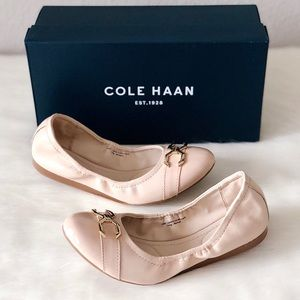 ✨New COLE HAAN Terrin Leather Ballet Flats Nude